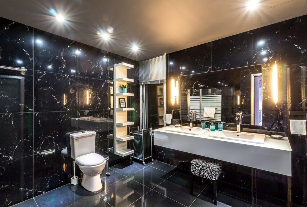 floating vanity bathroom